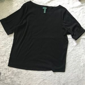 Ralph Lauren : Black Short Sleeve Blouse
